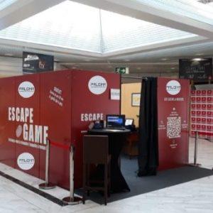 animation centre commercial escape game